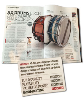 AD Custom padauk and birch snare review