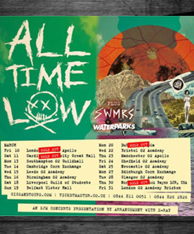 ad drums on all time low tour