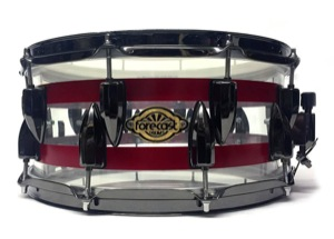 Clear Acrylic / Painted Stripes / Black Nickel Hardware