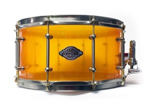 Amber Acrylic / Satin Chrome Hardware