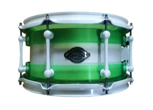 Custom Green Acrylic Chamber Shell / Birch Inner / White Hardware