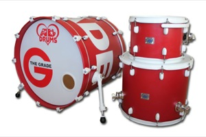 Matt Red Paint With Custom Graphic / White Hardware