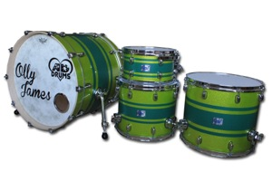 Lime Green Sparkle With Matt Green Stripes / Chrome Hardware