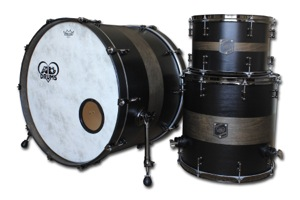 Matt Black Paint With Matt Black Stain Bands /Black Nickel Hardware
