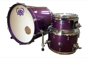 Purple Sparkle Wrap / Chrome Hardware