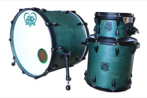 Satin Oil Green Stain / Black Nickel Hardware