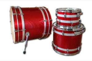 Red Sparkle Wrap With Silver Pinstripes / Chrome Hardware