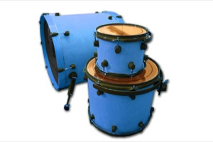 Satin Blue Stain / Flat Black Hardware