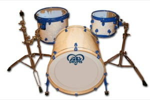 White Marine Pearl / Blue Hardware