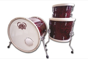 Dark Red Pearl Wrap With Chunky Wood Hoops / Chrome Hardware