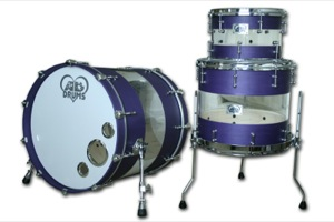 Purple Stain Clear Acrylic Hybrid / Chrome Hardware