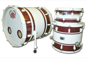 Red Sparkle With White Stripes / White  Hardware