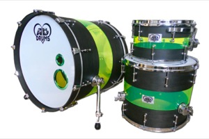 Matt Black Stain & Green Acrylic Hybrid / Chrome Hardware