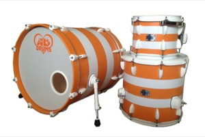 Orange Paint With White Pinstripes / White Hardware