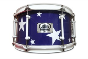 Gloss Purple Wrap With White Stars / White Hardware