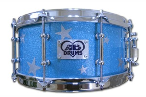 Ice Blue Sparkle With Silver Sparkle Stars / Chrome Hardware