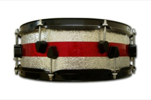 Silver and Red Sparkle Wrap / Black Hardware
