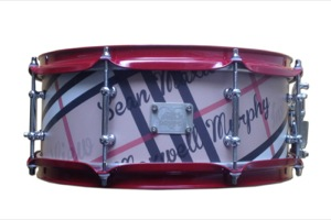 Custom Printed Burberry Wrap / Chrome & Red Hardware