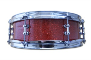 Red Glass Glitter / Chrome Hardware