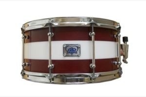 Deep Red Stain & White Acrylic Hybrid / Chrome Hardware