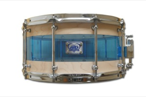 Maple & Blue Acrylic Hybrid / Chrome Hardware