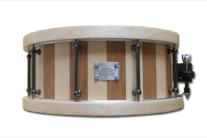 Cherry & Birch Stave With Maple Chunky Hoops / Black Nickel Hardware