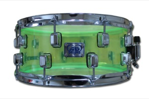 Neon Green Acrylic / Chrome Hardware