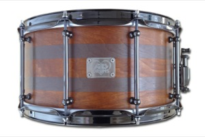Mid Brown Stain With Graphite Pinstripes / Black Nickel Hardware
