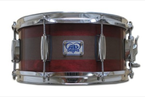 Dark Red Satin Oil Stain With Brown Paint Pinstripe / Chrome Hardware