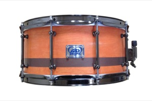 Orange Stain With Brown Pinstripe / Black Nickel Hardware