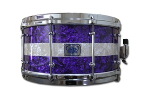 Purple & Aged White Pearl Wrap / Chrome Hardware