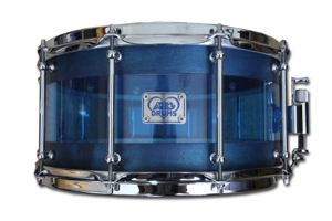 Blue Stain and Blue Acrylic Hybrid / Chrome Hardware
