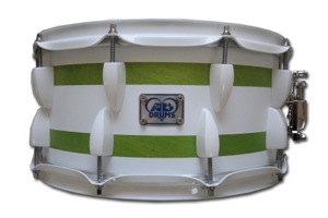 Lime Green Stain With White Bands / White Hardware
