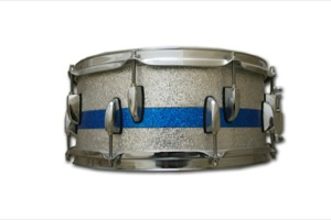 Silver Sparkle With Blue Sparkle Pinstripe / Chrome Hardware