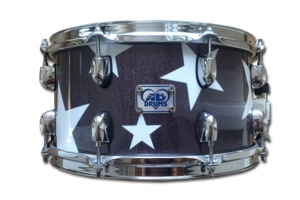 Custom Made Black Sparkle With Stars Wrap / Chrome Hardware