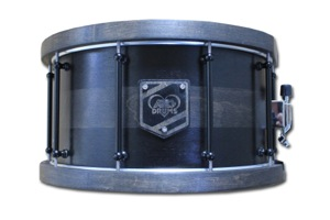 Black Paint Over Black Stain With Wooden Badge / Black Nickel Hardware