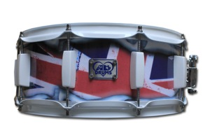 Custom Printed Union Jack Wrap / White Hardware