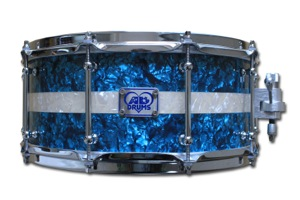 Custom Teal Pearl / Aged White Stripe / Chrome Hardware