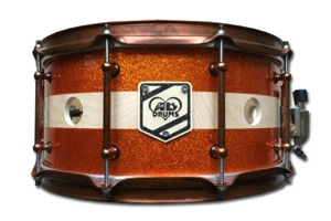 Orange Sparkle With Natural Band / Internal LED Lights  / Aged Copper Hardware
