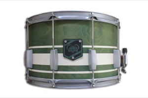 Olive Stain / Cream Stripes / Silver Hardware
