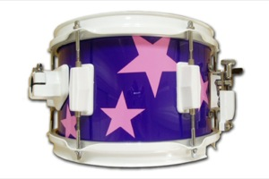 Gloss Purple Wrap With Pink Stars / White Hardware