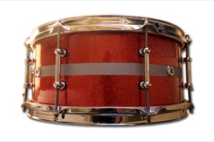Red Sparkle Wrap With Silver Pinstripe / Chrome Hardware