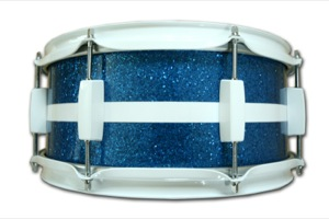 Blue Sparkle With White Inlay / White Hardware