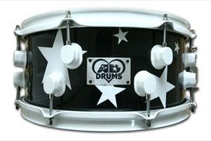 Gloss Black Wrap With Stars / White Hardware