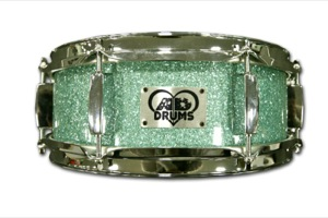 Turquoise Glass Glitter / Chrome Hardware
