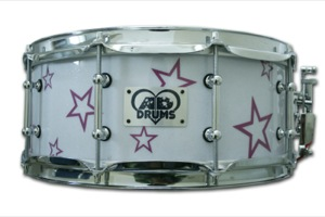 White Sparkle Wrap With Purple Stars / Chrome Hardware