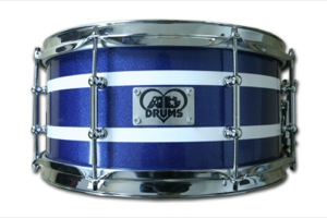 Blue Sparkle Wrap With White Pinstrpes / Chrome Hardware