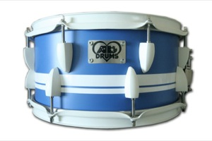 Matt Blue Wrap With White Stripes / White Hardware
