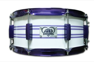 Gloss White Wrap With Purple Pinstripes / Candy Purple Hardware
